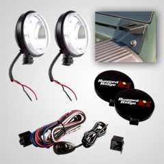Set Proiectoare Slim 100W Rugged Ridge pt.Jeep Wrangler (JK) 07-15
