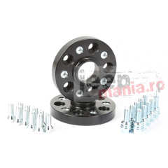 SET 2 Flanse distantiere, NEGRE, 1 Inch / 25 mm, 10-17 VW Amarok