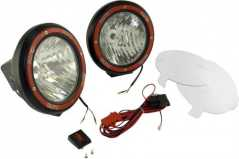 Proiectoare XENON (HID technology) Off-Road 9 inch Round Fog Light Kit (Pair) in Black Composite Housing with Wiring Harness