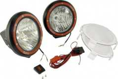 Proiectoare XENON (HID technology) Off-Road 7 inch Round Fog Light Kit (Pair) in Black Composite Housing with Wiring Harness