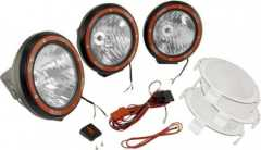 Proiectoare XENON (HID technology)  Off-Road 5 inch Round Fog Light Kit (Three pcs.) in Black Composite Housing with Wiring Harness