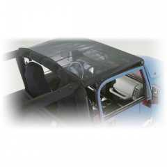 MESH Roll Bar Top pt. 07-09 Jeep Wrangler JK 2 Door. Front Seats