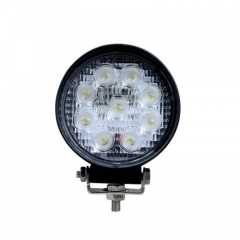 Proiector LED Rotund 4 inch - 27W, 2150 lumeni, FLOOD Beam 60 °
