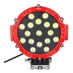 Proiector LED Rotund 6 inch ROSU - 51W, 3825 lumeni, FLOOD Beam 60 grade