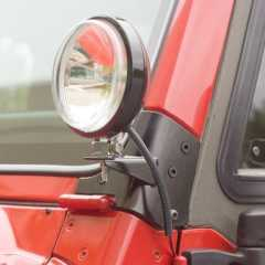 SET Suport proiectore stalp parbriz pt. 97-06 Jeep Wrangler & Wrangler Unlimited TJ - RUGGED RIDGE -