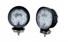 SET 2 Proiectoare LED Rotunde 4 inch - 27W, 2150 lumeni, SPOT Beam 30 grade sau FLOOD Beam 60 grade