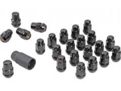 Set 23 Piulite Prezoane Roata 3/4inch Hex 1/2, NEGRE - Gorilla Automotive Products