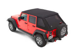 Soft Top TREKTOP NX Soft Top - Negru Diamond cu geamuri Fumurii pt. 07-18 Jeep Wrangler Unlimited JK 4 Usi