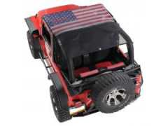 KoolBreez™ Full Roll Bar Top MESH AMERICA pt. 97-06 Jeep Wrangler TJ & Unlimited