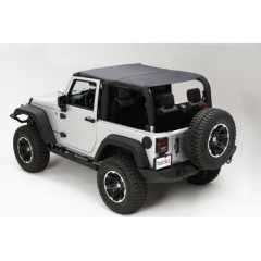 ISLAND TOPPER TOP, NEGRU / KAKI Diamond pt. 2007-2015 Jeep Wrangler JK 2 Door. Front & Rear Seats