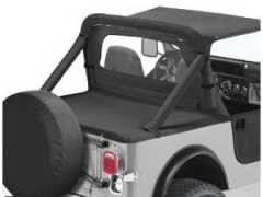 Duster Deck Cover NEGRU Denim pt. 1987-1991 Jeep Wrangler YJ cu SoftTOP
